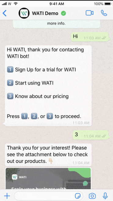 Communicate with your customers on WhatsApp