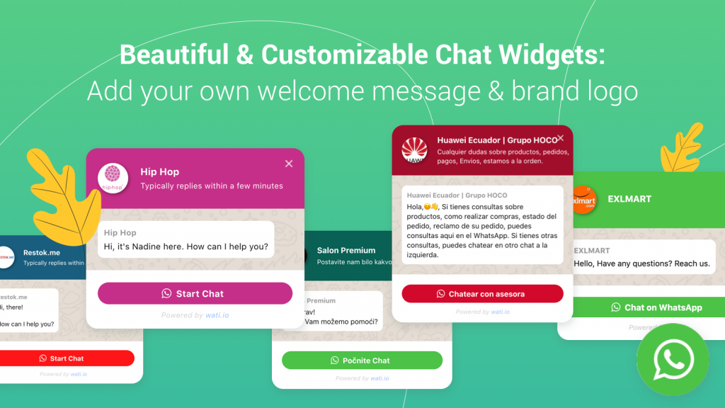 whatsapp chat for shopify