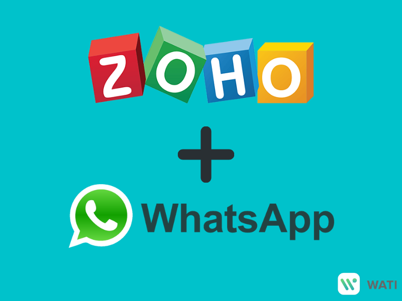whatsapp message from Zoho