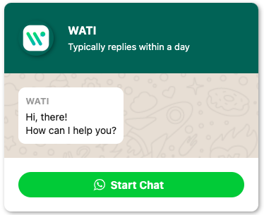 How the final result of the WhatsApp chat button will look like.