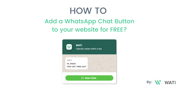 How to add a WhatsApp Chat Button to your website for FREE?